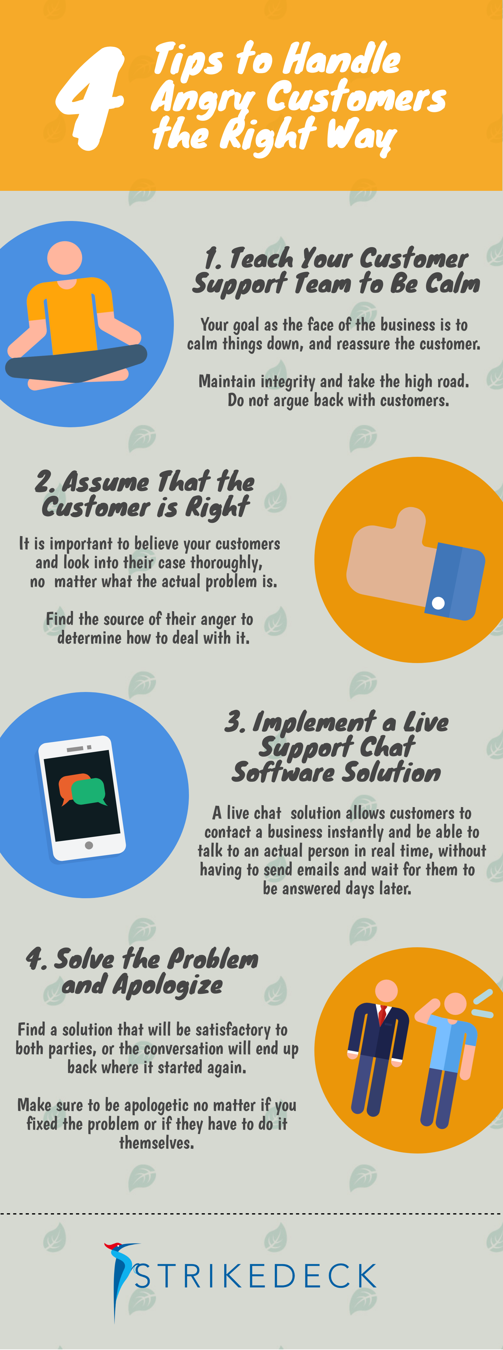 How to deal with dissatisfied customers?